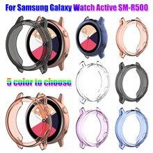 1pc caso capa para samsung galaxy assista ativo SM-R500 claro tpu assista caso protetor completo bordas escudo quadro capa protetora