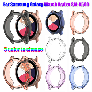 TPU Watch Case Soft Screen Protective Case for Samsung Galaxy Watch Active SM-R500 Full Cover Protector Shell Frame Accessories