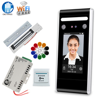 Wifi TCP/IP Face Access Control Kit Set Biometric Attendance Sytem RFID Keypad Reader + Power Supply+ Electronic Lock Door Locks