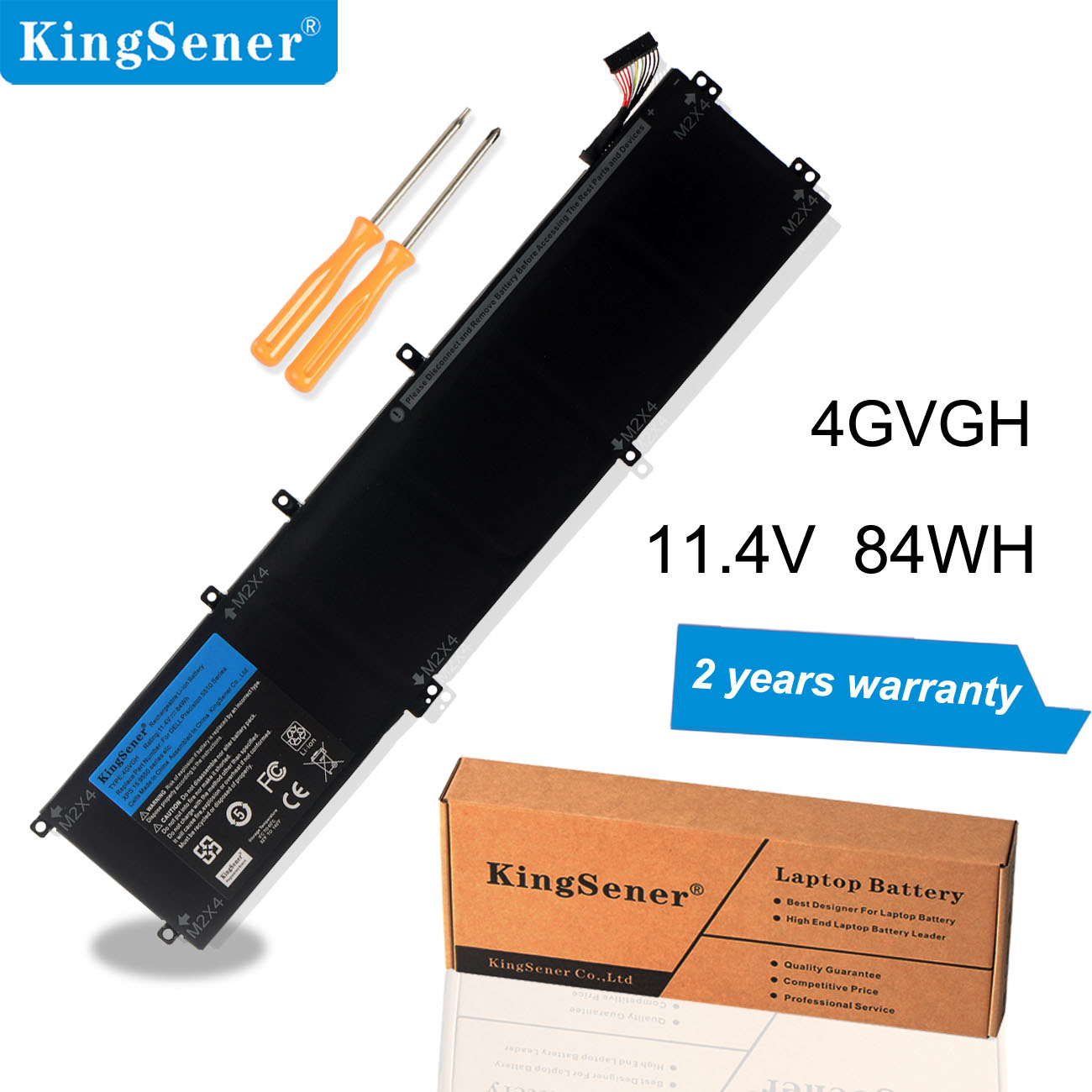 KingSener New 4GVGH Laptop Battery for DELL Precision 5510 XPS 15 9550 series 1P6KD T453X 11.4V 84WH-in Laptop Batteries from Computer & Office