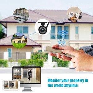 Водонепроницаемая HD 1080P IP камера WiFi Беспроводная камера наблюдения Bullet Camara домашняя уличная камера 2MP 3,6 мм ночное видение домашняя камера б...