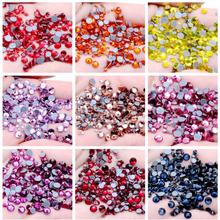 size ss6 ss8 ss10 ss12 ss20 ss30 ss34 Rhinestones Quality Flat back Hot fix Glass Rhinestones For Nail art Garment Decorations