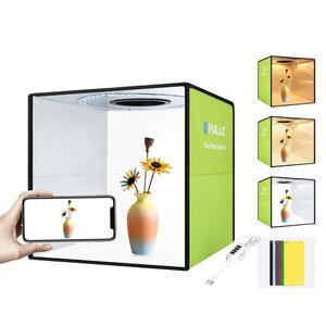 Image 2 - PULUZ 30cm Folding Portable Ring Light Photo Lighting Studio+Ring LED Panel Truntable,Tabletop Shooting Tent Box Kit 6 Backdrops