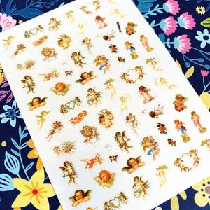 Image 4 - Latest 3D Nail Art Sticker Nail L 192 angel Series Nail Art Sticker Decal Tool DIY Tool