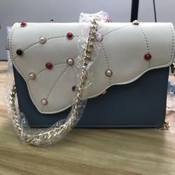 Bolso de mujer de decoración de perlas, bolso de cadena de hombro, bolso de mujer de alta calidad, bolso de diseño de lujo