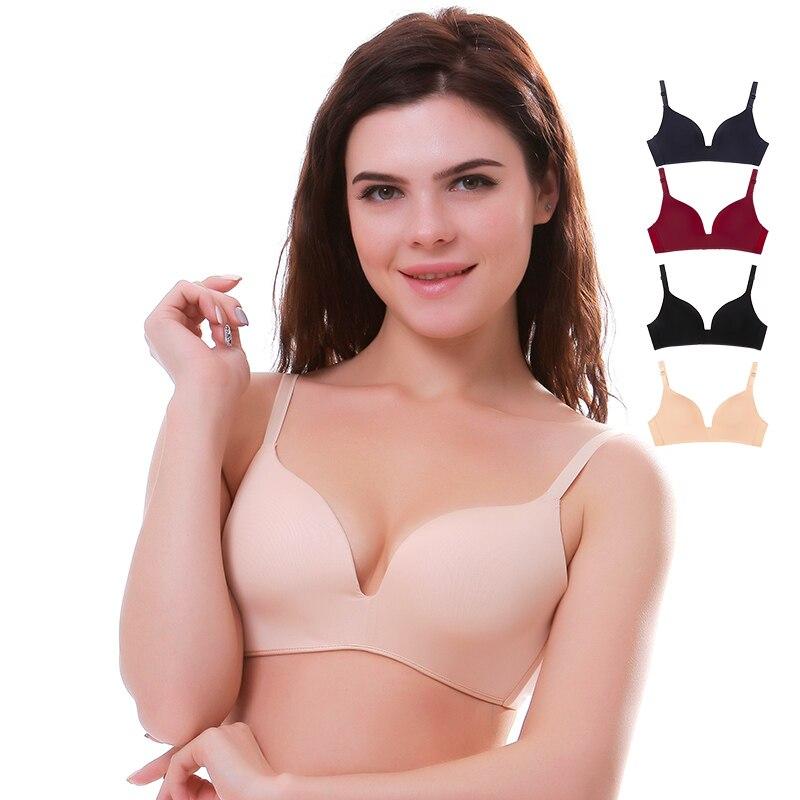 Seamless Bras For Women Push Up Bras No Wire Brassiere A B Cup Underwear Sexy Bra Three Quarters(3/4 Cup) Bra Women Lingerie
