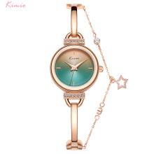 Kimio Women Gradient Quartz Wristwatch Stainless Steel Star