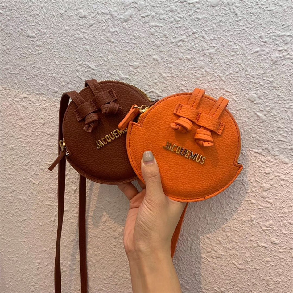 PU Leather Girls' Shoulder Bag Handbags Women Small Crossbody Messenger Bag Mini Round Pouch For Men