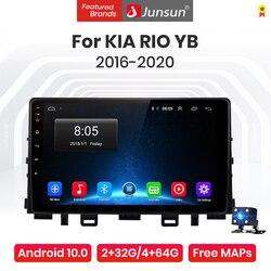 Junsun V1 Pro 4G CarPlay Android 10 4G+64G Car Radio Multimedia Player For Kia RIO YB KX Cross 2016 - 2020 GPS no 2din 2 din dvd