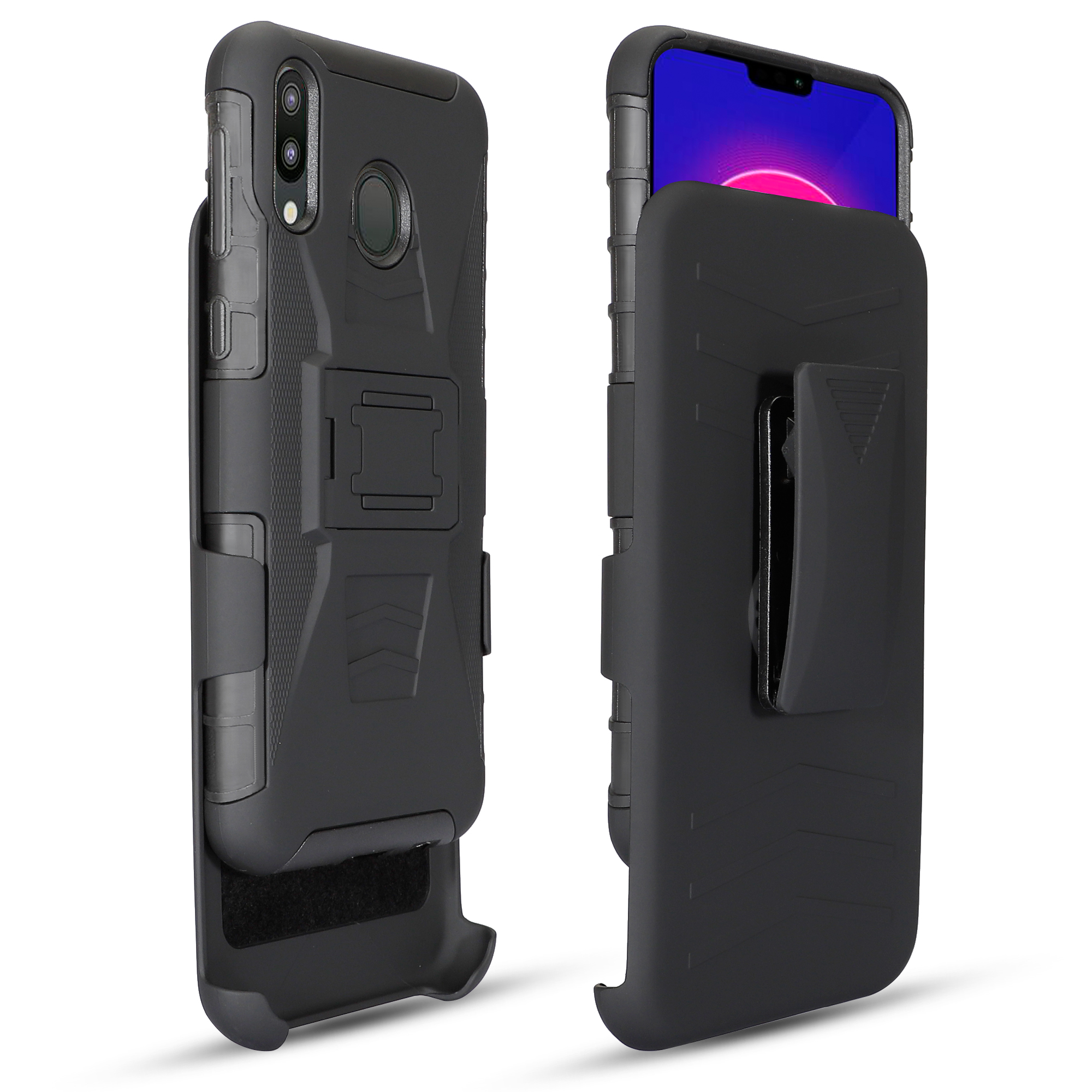 For <font><b>Samsung</b></font> Galaxy A5 A7 A8 A9 A10 A20 A30 A50 <font><b>A70</b></font> A80 A90 Rugged Holster Belt Clip <font><b>Case</b></font> M10 20 30 Cover Stand Guard Shell image