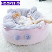 HOOPET мягкая кровать для кошек, кровать для маленьких собак, диван, зимние теплые коврики, дом для кошек, гнездо, круглая подушка для глубокого сна