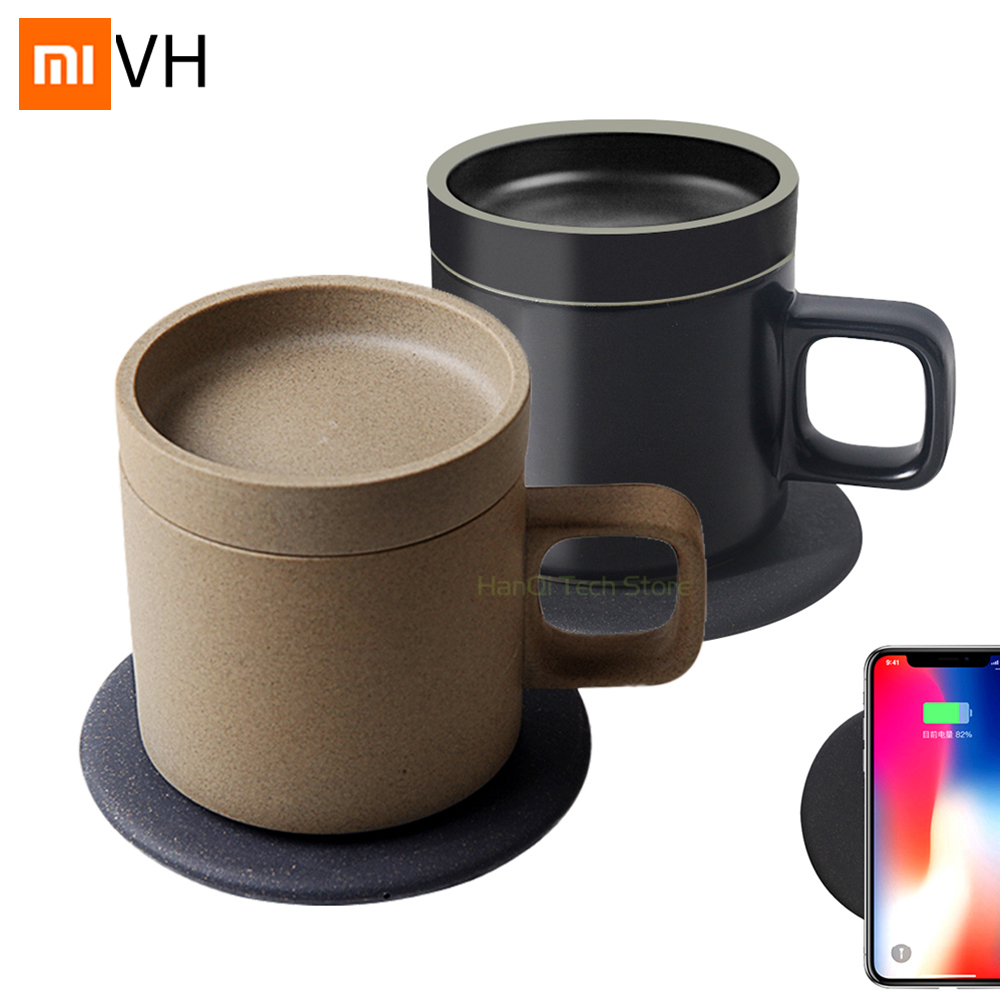 Xiaomi Mijia VH Wireless Charging Electric Cup Automatic Insulation 55℃ Heat Preservation 10w Fast Charge For Xiaomi Smart Home
