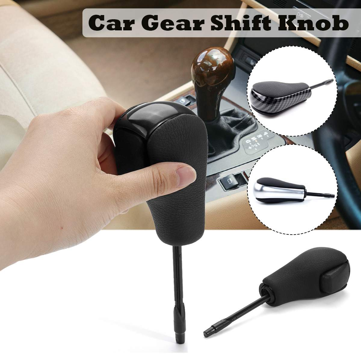 Black/Chrome/Carbon Car Auto styling Automatic vehicles Gear Shift Knob Stick for <font><b>BMW</b></font> E46 <font><b>E60</b></font> E39 E83 E53 E61 3 <font><b>5</b></font> 7 X <font><b>Series</b></font> image