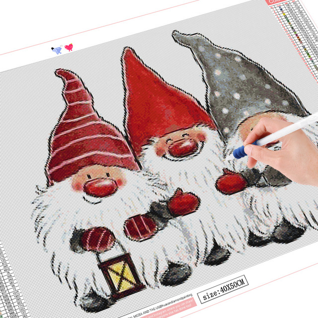 HUACAN 5d Diamond Painting Santa Claus Painting With Diamonds Christmas Diamond Embroidery Full Drill Square Mosaic