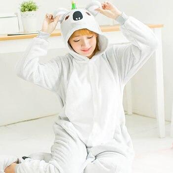 Kigurumi Koala long sleeve hooded onesie Flannel warm kigurumi for adults Whole onepiece animal pajamas combinaison pyjama adult фото