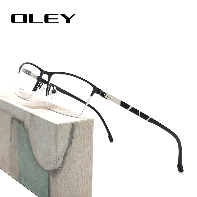 OLEY Glasses Frame Optical Series Myopia Hyperopia Presbyopia Progressive Prescription Glasses Square Titanium Alloy Glasses