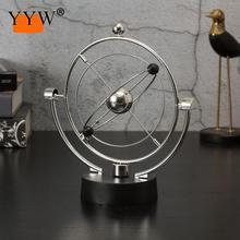 Silver Funny Planet Celestial Universe Kinetic Orbital Galaxy Wiper Decoration Crafts Table Decoration Figurines & Miniatures