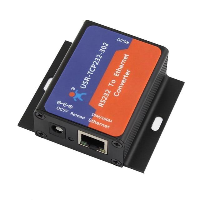 USR TCP232 302 シリアルポート RS232 イーサネット converter サーバデバイスのサポート DHCP DNS