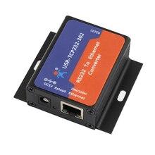 USR TCP232 302 Serial port RS232 zu Ethernet konverter server gerät unterstützung DHCP DNS