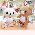Новые плюшевые игрушки Rilakkuma, японские аниме медведь, мягкие милые куклы-животные, милый подарок для детей, рождественский подарок, украшени...