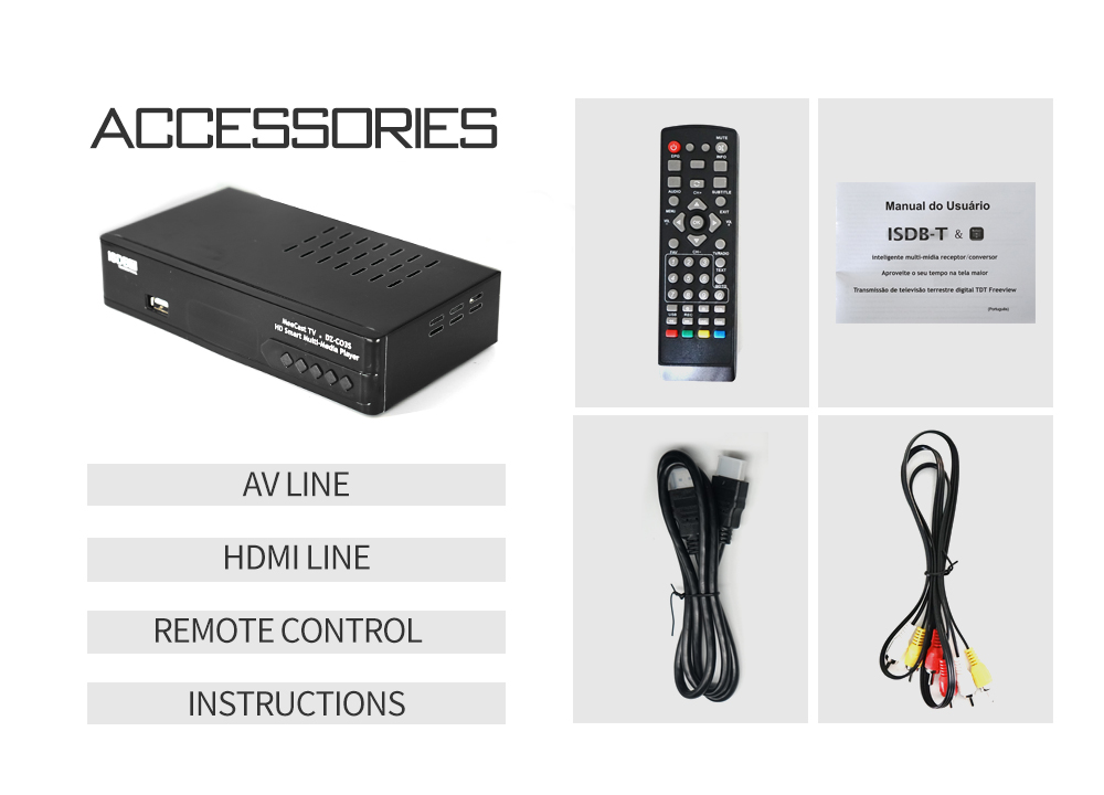 Digital Terrestrial ISDB-T TV Tuner Receiver Set-Top Box Fully HD 1080P H.264 USB Decoder for Brazil Chile Peru 11 -