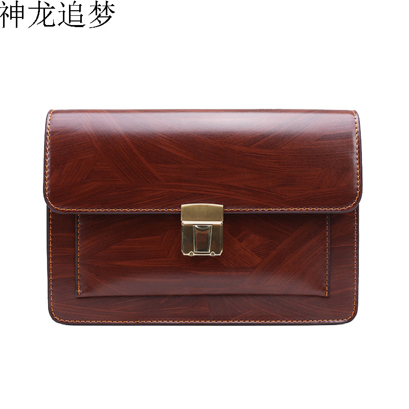 New men's clutch bag password lock business wallet large capacity clutch Mobile phone bag fashion casual clips male handbag