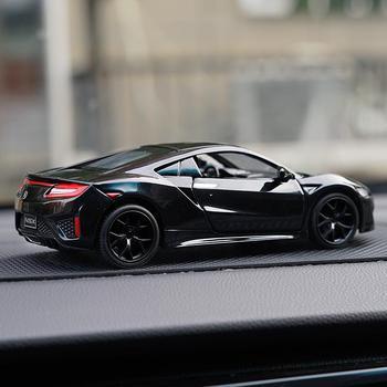 Nowy 1 32 zabawka samochód Acura NSX samochodzik Diecasts i pojazdy zabawkowe Model samochodu Model w miniaturowej skali samochody zabawkowe dla dzieci prezent tanie i dobre opinie DuBeeBee Metal CN (pochodzenie) 3 lat Inne odlew