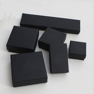 Jewelry Organizer Gift-Box-Holder Necklace Earring Bracelet Display Black-Box Rectangle