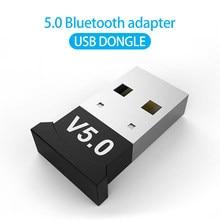 Adaptador Dongle V5.0 USB inalámbrico Bluetooth 5,0, receptor de música, transmisor Bluetooth para PC, adaptador inalámbrico