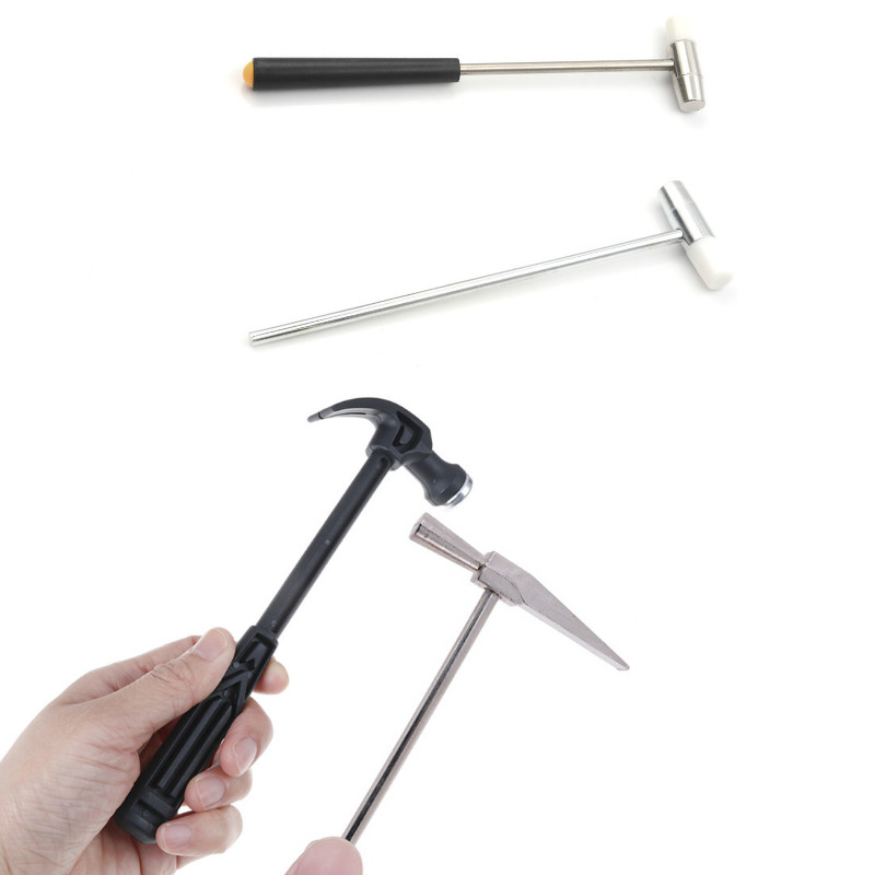 Handle Mini Claw Hammer Woodworking Nail Puncher Metal Hammer / Small Iron Hammer Watch Repair Hand Tool Emergency Safety Escape