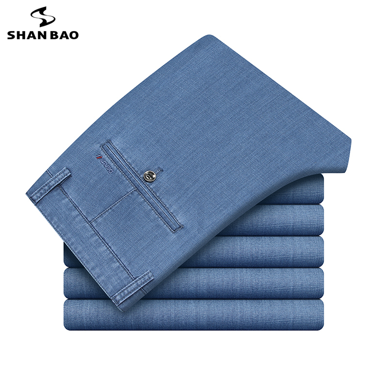 2020 Summer Modal Comfortable Cotton Thin Straight Jeans Luxury High Quality Business Casual Brand Clothing Men's Denim Jeans