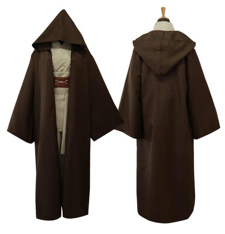 Unisex Halloween Star Wars Jedi Knight Cosplay Anzug Robe Umhang Cape Halloween Cosplay Kostüm Anzug Kann Die Kraft Werden mit sie