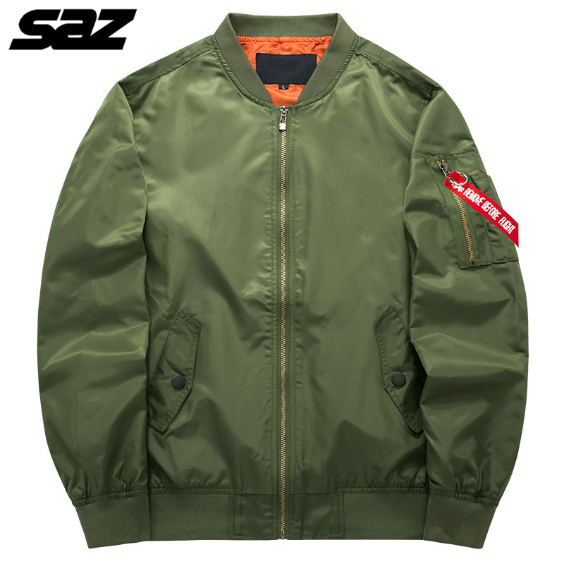 Saz Военная Тактическая Мужская армейская летная куртка-бомбер бейсбольная куртка студенческий пилот ВВС водонепроницаемая куртка для мужч...