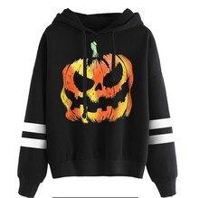 halloween print sweatshirt womens streetwear harajuku girls sweatshirts casual skulls korean hoodie 2019 tops vintage