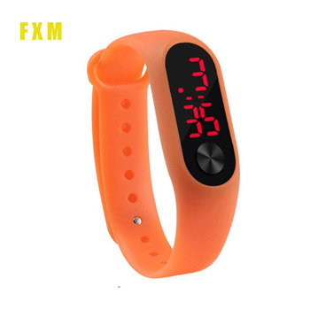 цена на New Men Women Casual Sports Bracelet Watches White LED Electronic Digital Candy Color Silicone Wrist Watch for Children Kids