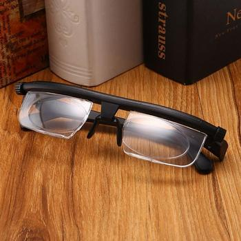 Adjustable Lens Focus Reading Myopia Glasses for Nearsighted Farsighted Computer Reading Driving Unisex Variable Focus Glass image