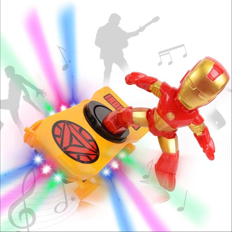 Kids Spider Chivalry Stunt Skate Vehicle Motor-driven Universal Rotating Roll Music Lighting Children Cartoon Toys