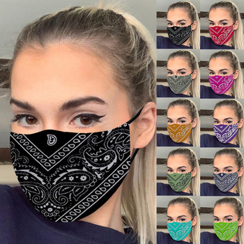 Face mask 1PC Washable Mask Printed Windbreak Seamless Outdoor Riding Quick-drying Keep Mask Breathable маска masque en tissu #K image
