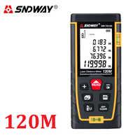 SNDWAY numérique Laser télémètre distance mètre règle 40M 50M 60M 70M 80M 100M 120M trena finder ruban télémètre testeur outil