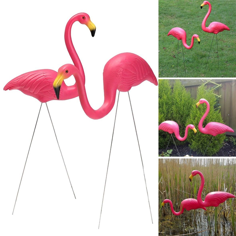 Artificial Flamingo Gardening Decor Decoration Decoration 3pcs/Lot Outdoor Garden Garden Garden For Wedding Villa