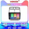 MEKEDE 4G + 64G Peugeot 307 için 2002-2013 araba radyo Stereo çalar bluetooth'lu gps'li navigasyon IPS DSP