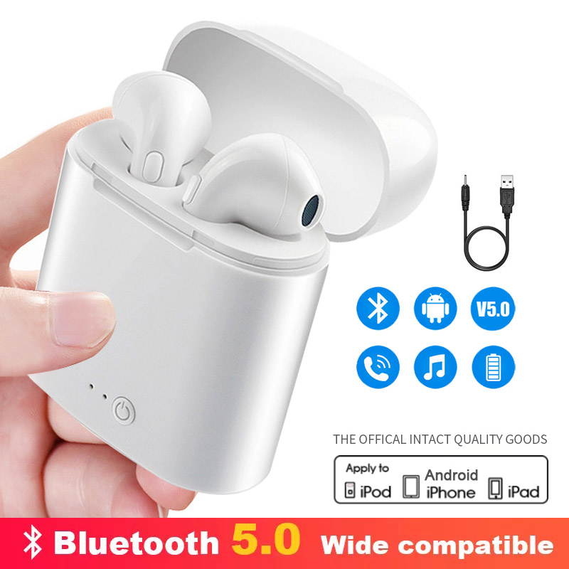 i7s Tws Wireless Headphones Bluetooth Air <font><b>Earphone</b></font> Mini 3D Stereo Earbud Handsfree Headset With Charging Box For iPhone <font><b>Xiaomi</b></font> image
