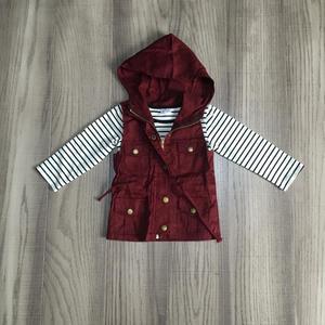 Image 4 - ฤดูใบไม้ร่วง/ฤดูหนาวเด็กทารกผ้าฝ้ายแขนยาวเสื้อยืดมัสตาร์ดมะกอกเสื้อกั๊กและ stripe Tops hoodie raglans เสื้อผ้าเด็กเสื้อ