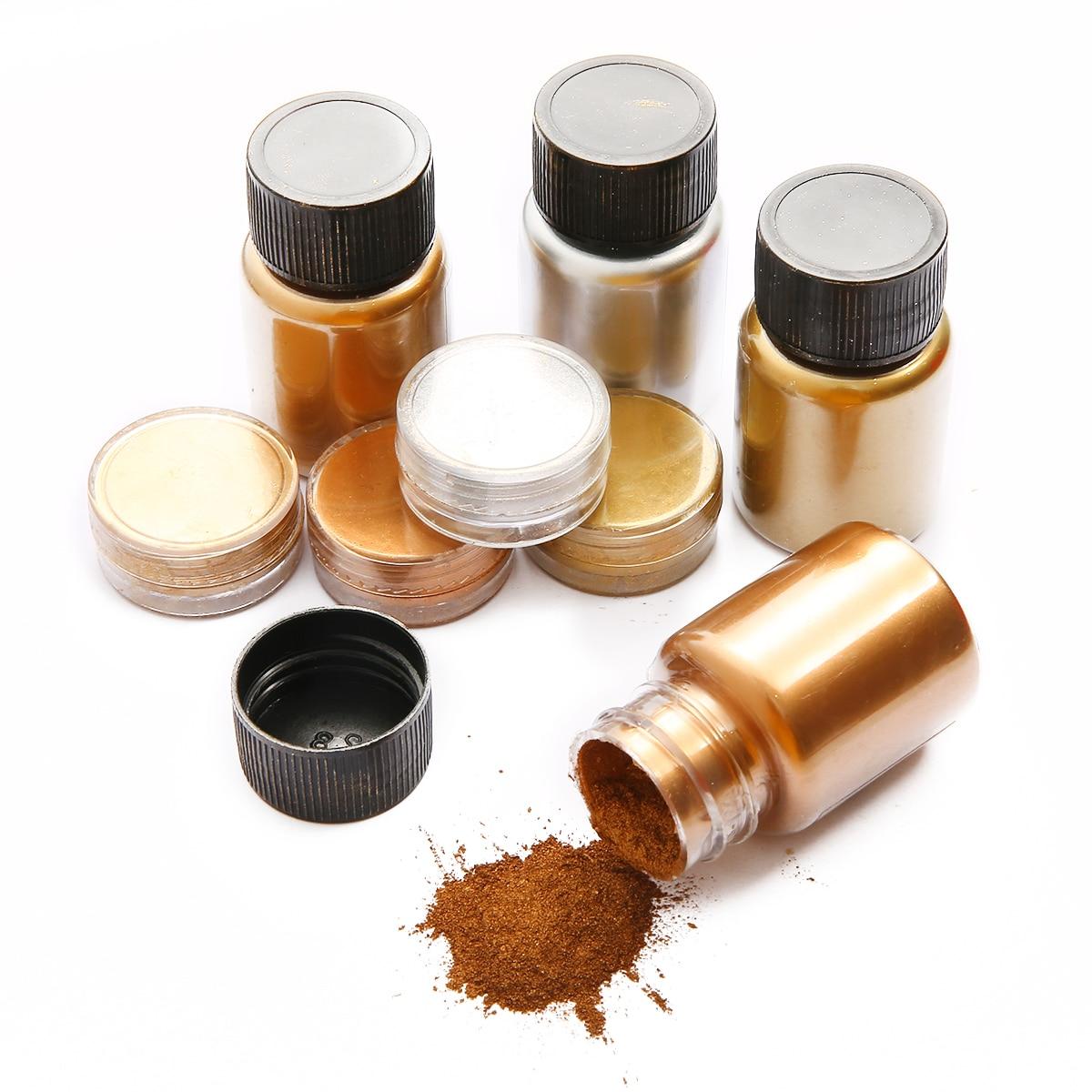 Блестящий пигментный порошок золотого и серебряного цвета, 3-25 г, цветной перламутровый пигмент, краситель для уф смолы, эпоксидная смола, фу...