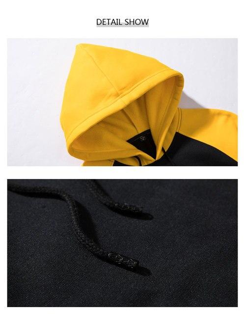 Men Women Hoodies set Fashion Casual Print pumba Long Sleeve Splice  Sweatshirt Autumn Winter Warm Thick Hip-hop Style Hoody set 5