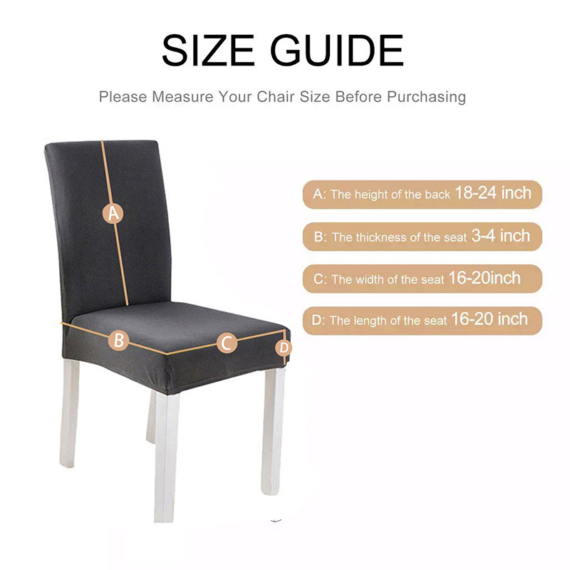 Fabric Chair Cover for Dining Room Chairs Covers High Back Living Room Chair Cover for Chairs for Kitchen for Sofa and Armchairs 6