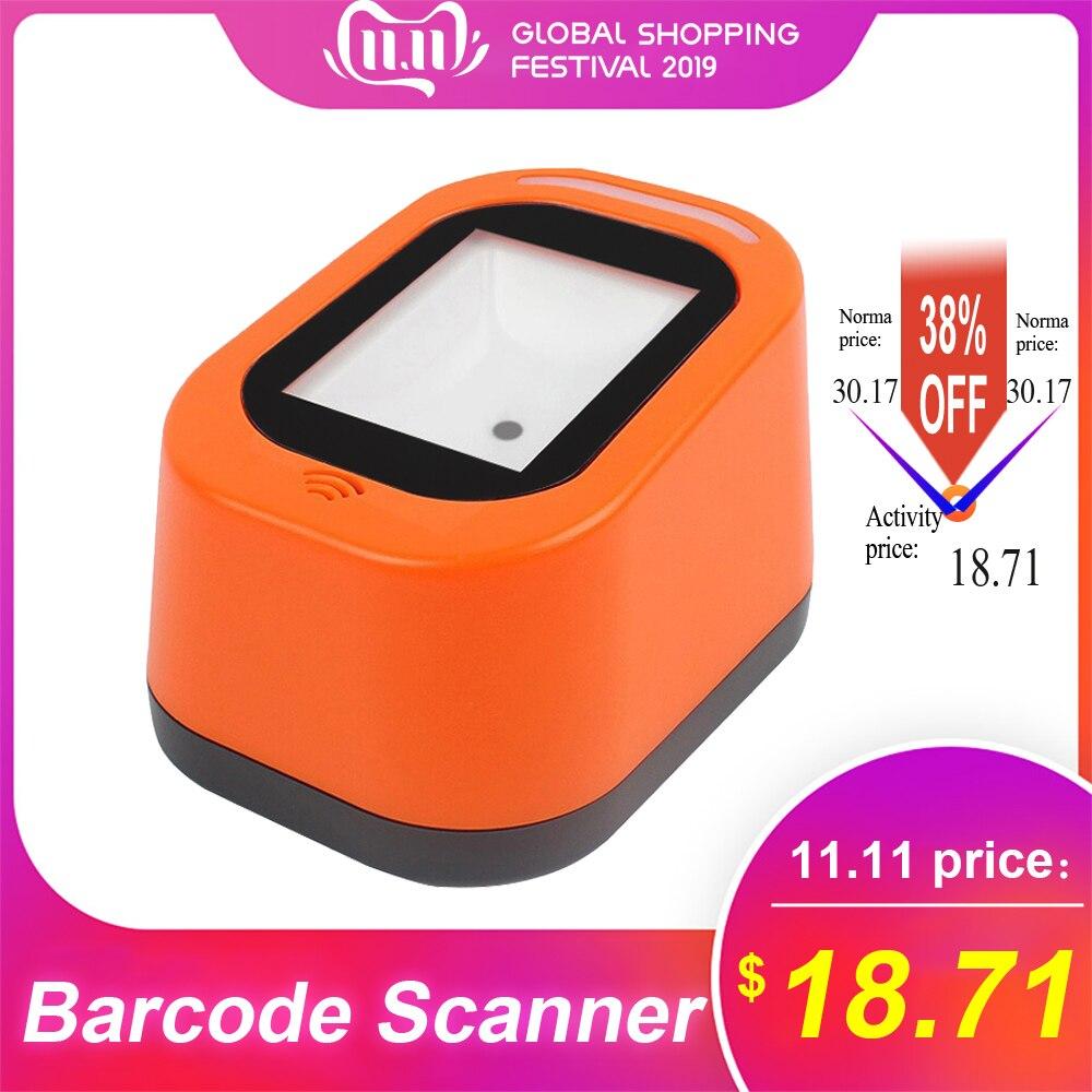 Leitor de código qr 1d & 2d para lojas supermercados leitor de código de barras com fio leitor de código de barras usb varredor de código de barras versátil