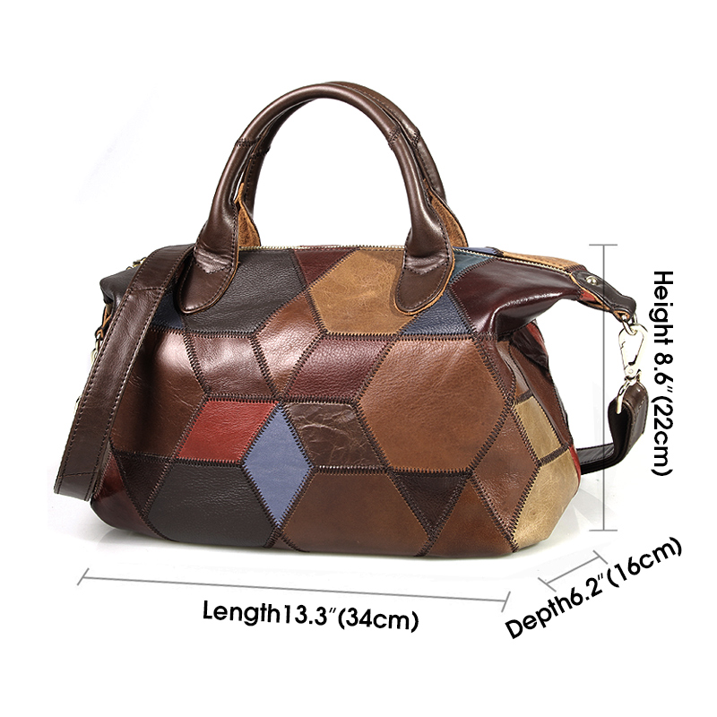 Cobbler Legend 2019 Genuine Leather Shoulder Bag for Women Luxury Handbag Crossbody top-handle bag Women tote Bags Ladies Purse Women Women's Bags cb5feb1b7314637725a2e7: Multicolor
