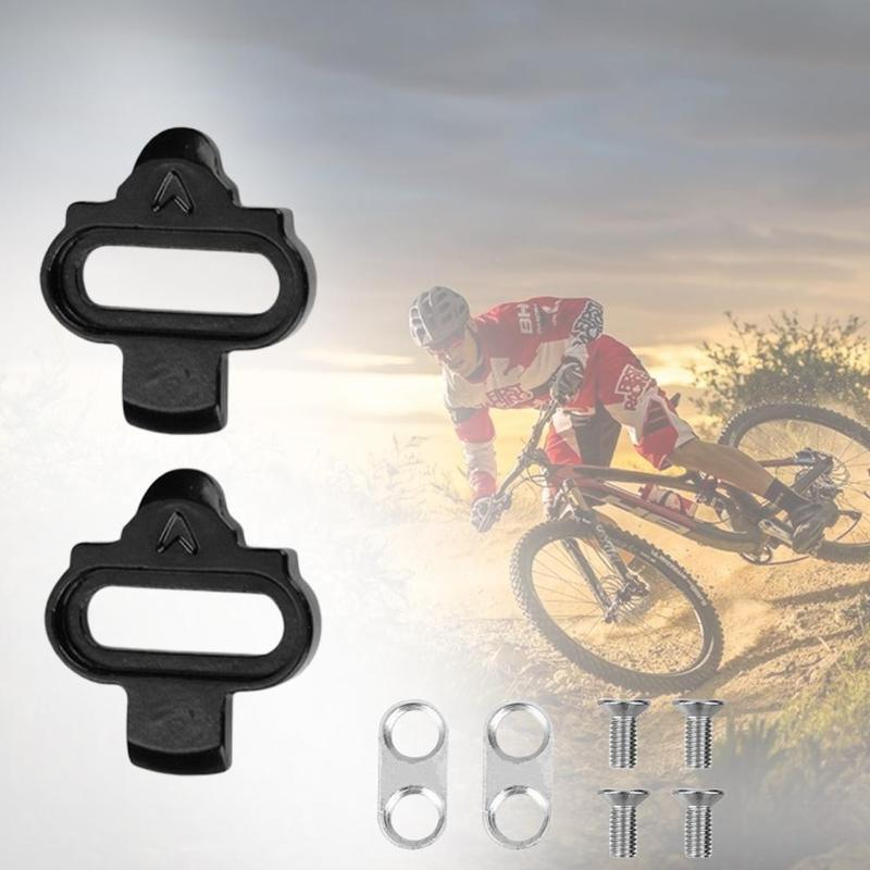 Camping Mini Bike Self-locking Pedal Cleats Set Cycling Pedal Accessories Steel Screws For Bicycle Cleat