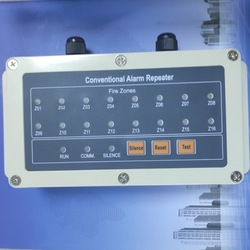 Panel repetidor 16 panel de pantalla de repetición de zona funciona con Panel de alarma de incendios convencional de RS485